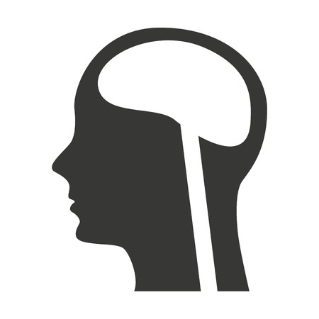 head profile: head human profile organ icon vector illustration design Illustration