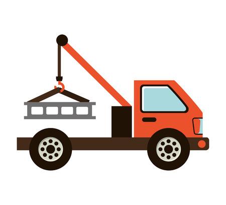 construction vehicle: truck construction vehicle icon vector illustration design