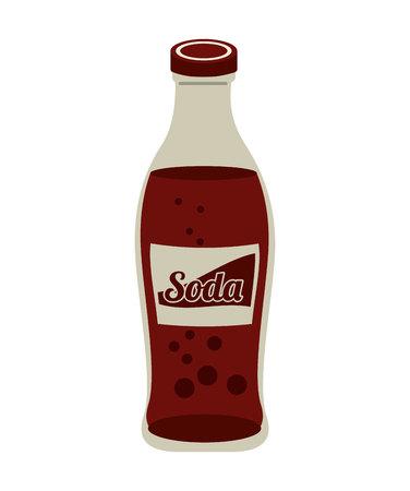 soda bottle drink icon vector illustration design Illustration