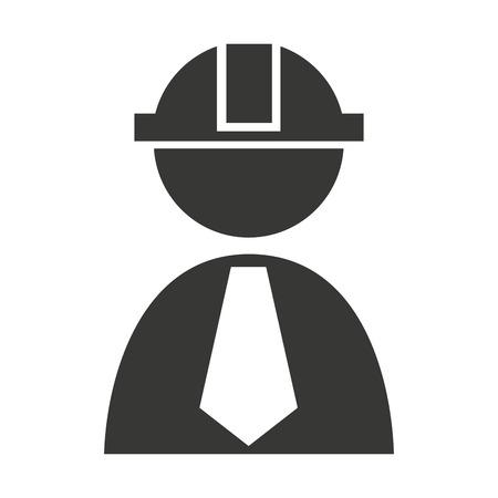 professional construction worker icon vector illustration design