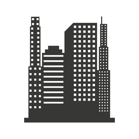 building silhouette: building construction silhouette icon vector isolated graphic