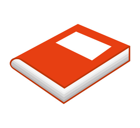 read magazine: text book isolated icon vector illustration graphic