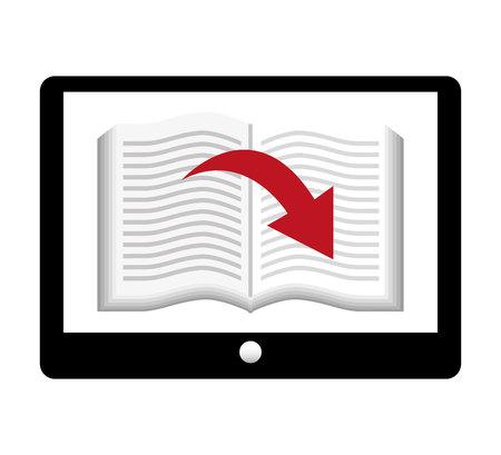 read magazine: electronic book online icon vector illustration graphic Illustration