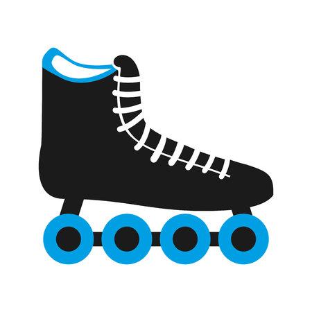 skate schoen wiel pictogram vectorillustratieontwerp