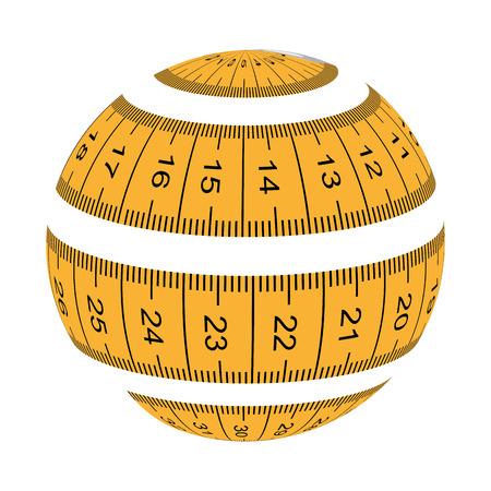 tape measure ribbon icon vector illustration graphic