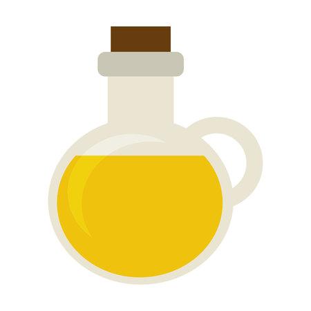 oil bottle: olive oil bottle icon vector illustration design