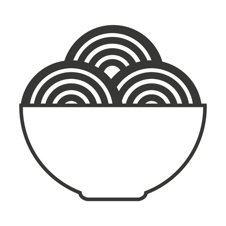 spaghetti dish isolated icon vector illustration design