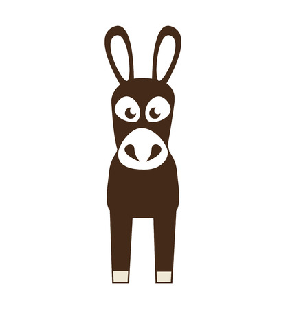 mule: coffee mule animal icon vector illustration design