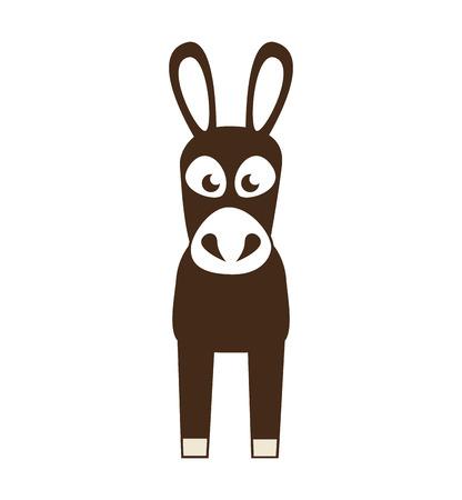 humorous: coffee mule animal icon vector illustration design