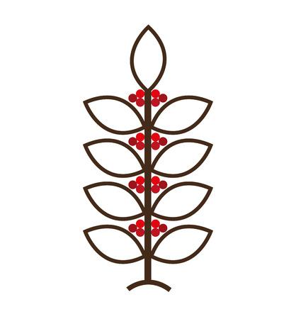 coffee plant natural icon vector illustration design