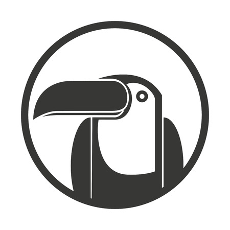 brazilian caribbean: toucan bird brazilian icon vector illustration design