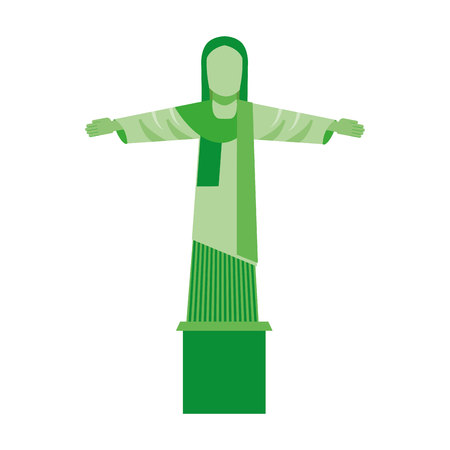 cristo: corcovado christ isolated icon vector illustration design