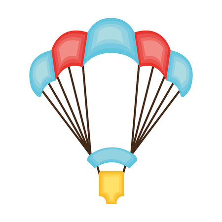 parachute jump: skydiving extreme sport icon vector illustration design