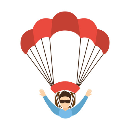 skydiving: skydiving extreme sport icon vector illustration design