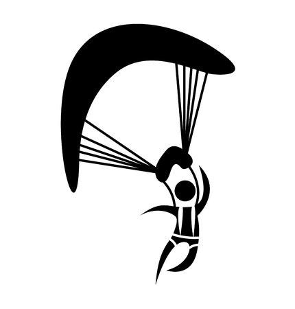 skydiving Extremsport-Symbol Vektor-Illustration, Design,