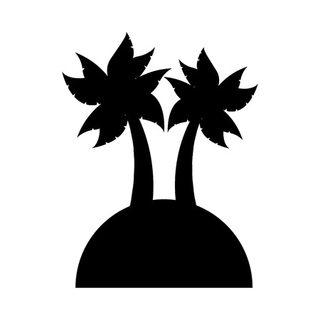 subtropical plants: tree palm silhouette icon vector illustration design