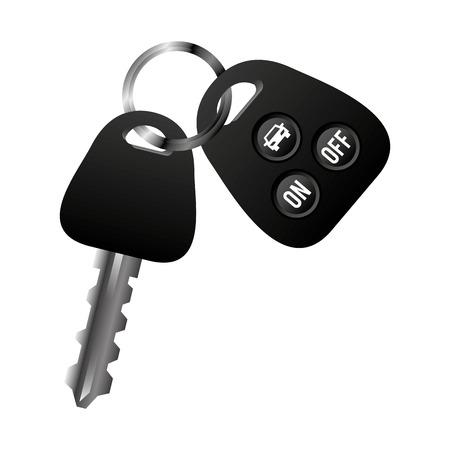 car vehicle keys icon vector illustration design Illustration
