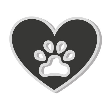 icon vector: dog footprint isolated icon vector illustration icon