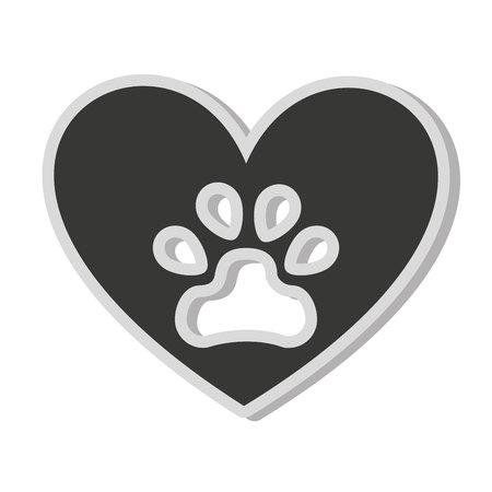 dog footprint isolated icon vector illustration icon