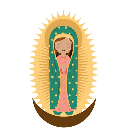 immaculate: virgin mary cute icon vector illustration icon Illustration