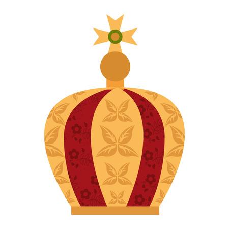 virgin mary crown icon vector illustration icon