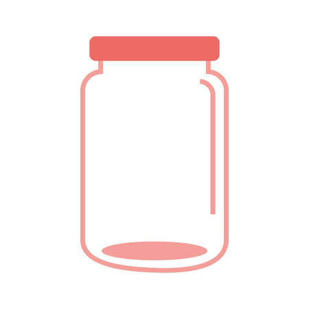 mason: mason jar glass icon vector illustration graphic Illustration
