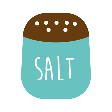 contemporary taste: salt ingredient isolated icon vector illustration graphic Illustration