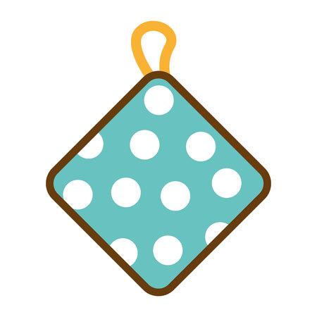 kitchen rag isolated icon vector illustration graphic