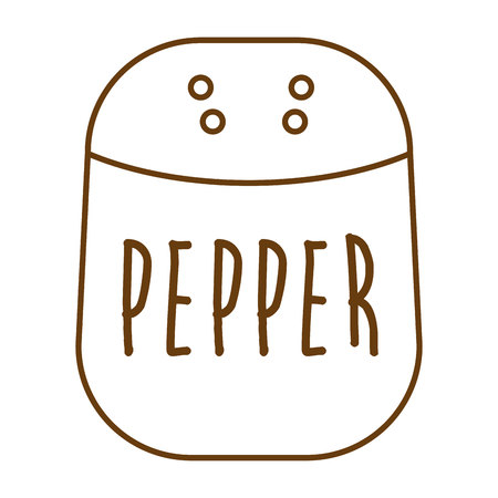 isolated ingredient: pepper ingredient isolated icon vector illustration graphic Illustration
