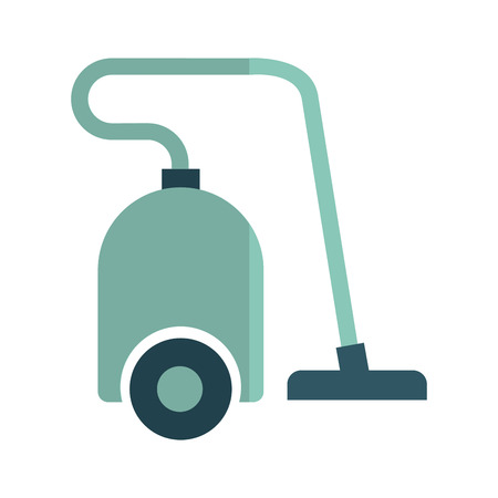 cleaner vacuuming symbol: home appliance isolated icon vector illustration graphic
