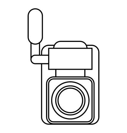 handy cam: video camera film handy icon vector illustration design Illustration