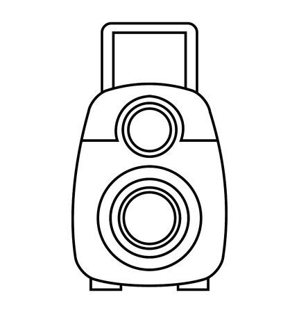 handy: video camera film handy icon vector illustration design Illustration