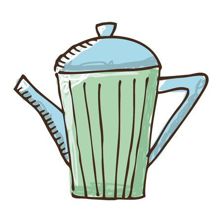 teapot kitchen isolated icon vector illustration graphic