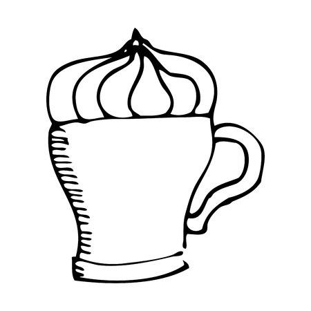 delicious coffee silhouette icon vector illustration design Illustration