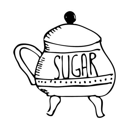 sweetener: sugar pot isolated icon vector illustration design Illustration