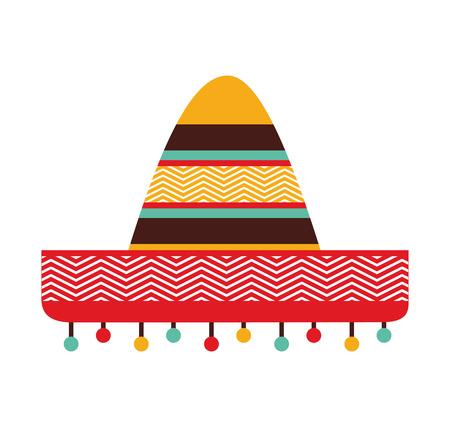 sombrero de charro: sombrero mexicano cultura icono de ilustración vectorial icono Vectores