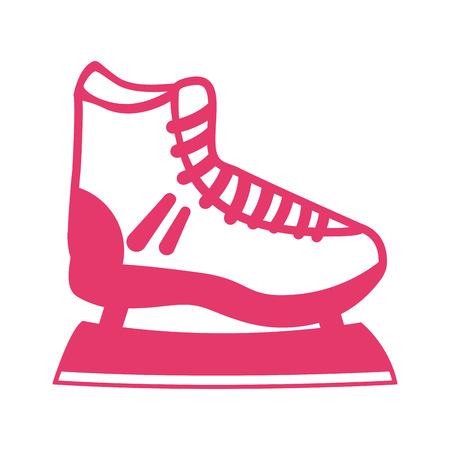 roller skating: skate shoe ice icon vector illustration design Illustration
