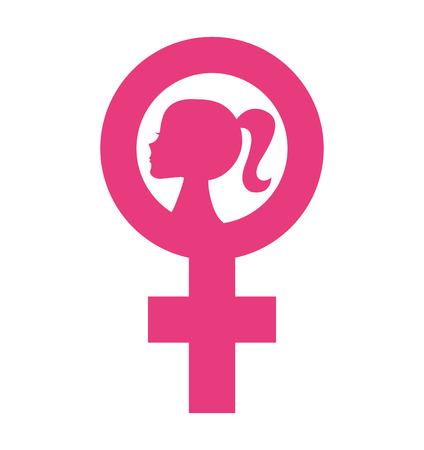 female symbol: woman female symbol silhouette icon vector illustration icon