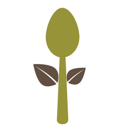 leafs healthy food menu icon vector illustration design Illustration