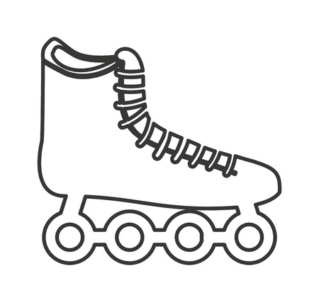inline skating: skate shoe wheel icon vector illustration design