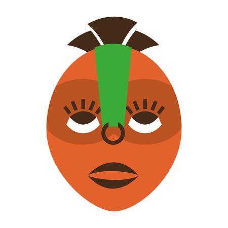 african culture: mask african culture icon vector illustration design Illustration