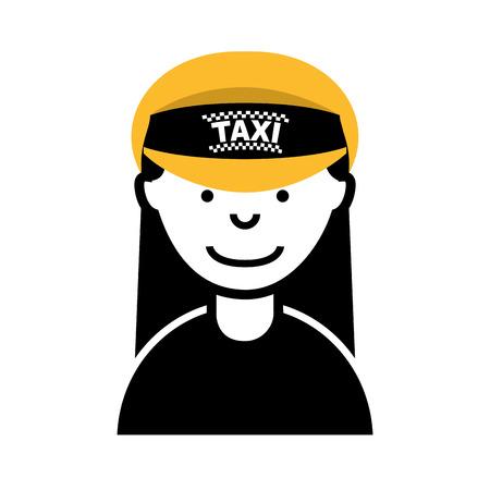 female driver: taxi driver worker icon vector illustration design