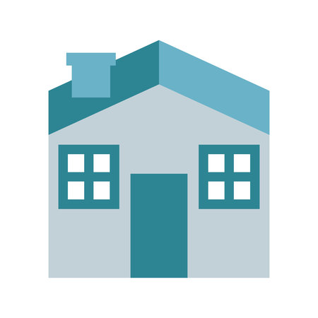 homes for sale: house silhouette real estate icon vector isolated Illustration