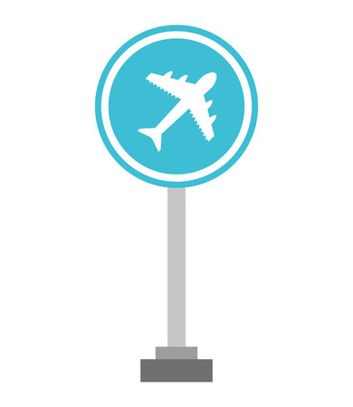 airport sign: airport sign traffic icon vector illustration design