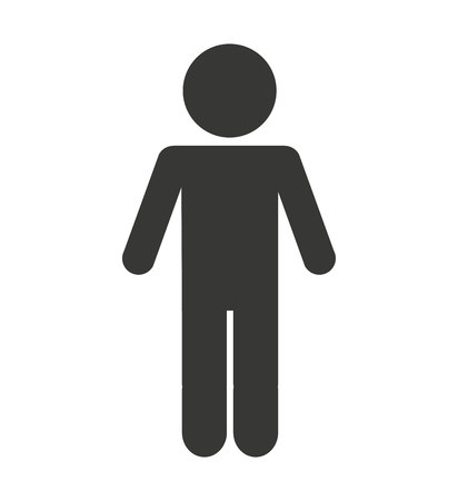 man male silhouette isolated icon vector illustration design