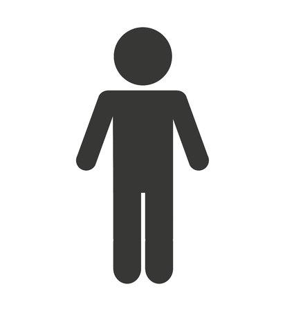 1 person: man male silhouette isolated icon vector illustration design