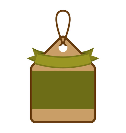 ecology tag hanging icon vector illustration design Illustration