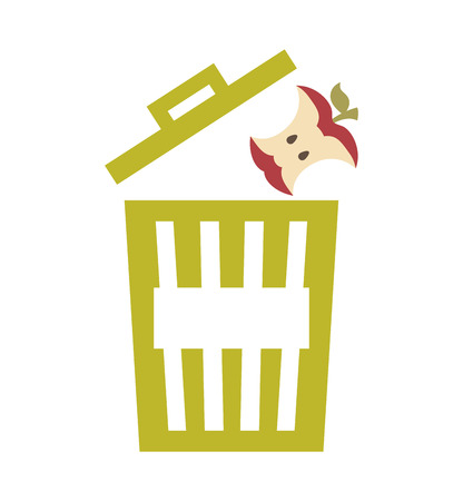 composting: waste garbage recycle icon vector illustration design