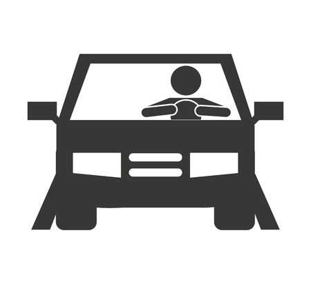 human driver car icon vector illustration design