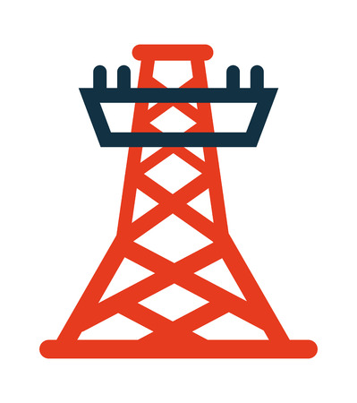 energy distribution: electric tower isolated icon vector illustration design